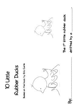 Eric carles 10 little rubber ducks book activities by katherine m eric carles 10 little rubber ducks book activities fandeluxe Image collections