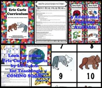 Eric Carle Brown Bear Polar Bear Math Calendar Pattern