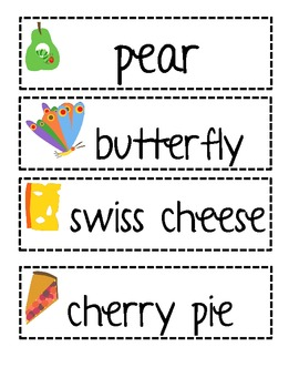 Eric Carle's Very Hungry Caterpillar Vocabulary Cards