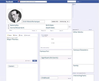 Erich Maria Remarque - Author Study - Profile and Social Media