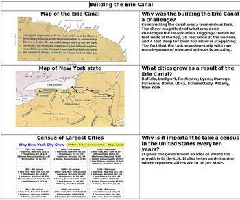 Erie Canal Graphical Organizer - Bill Burton