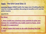 Erie Canal Lesson Part Two