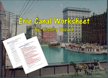 Erie Canal Worksheet (Great Reading)