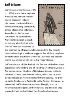 Erik the Red Handout
