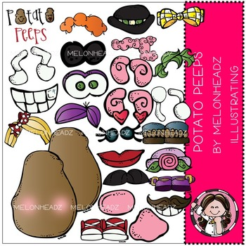 Melonheadz: Potato Peeps clip art - COMBO PACK