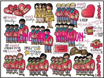Melonheadz: Adoption clip art - LINE ART
