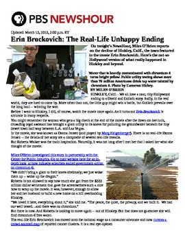 Erin Brockovich Assignment from Unit on Environmental Law Lesson Current Issues