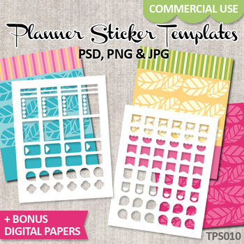 Erin Condren Life Planner Stickers Templates / No. 10