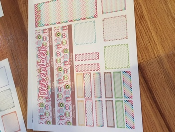 Erin Condren Monthly Layout Stickers (Physical stickers mailed to YOU)
