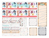 Erin Condren Monthly Stickers (PHYSICAL stickers mailed to