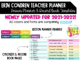 EC Teacher Planner EDITABLE Headers, Lesson Plan Templates & Record Book Labels