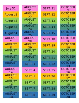 Erin Condren Teacher Planner Aug-Oct Dates Labels *FULLY EDITABLE*