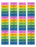Erin Condren Teacher Planner Aug-Oct Dates Labels *FULLY E