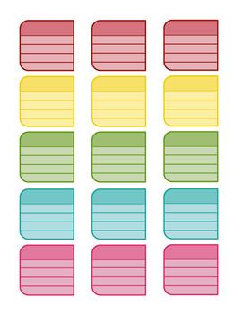 Erin Condren Teacher Planner Labels (VERTICAL)