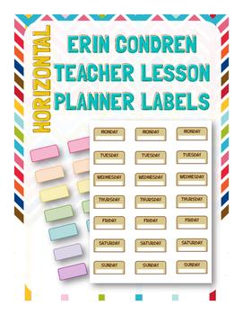 Erin Condren Teacher Planner Labels (HORIZONTAL)