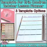 Erin Condren Teacher Planner Lesson Plan Template