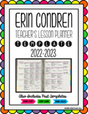 Erin Condren Teacher Planner Lesson Plan Template - EDITABLE