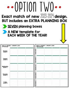 Erin Condren Teacher Planner Lesson Plan Template - EDITABLE