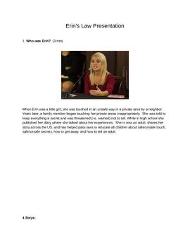 Erin's Law Presentation