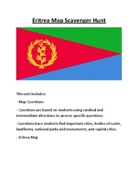 Eritrea Map Scavenger Hunt