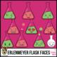 Erlenmeyer Flask Faces Clip Art