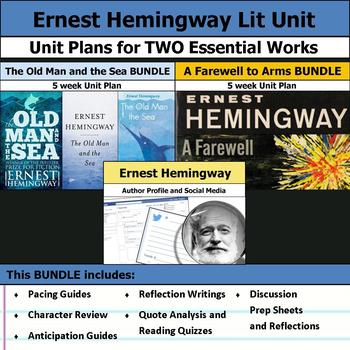 Ernest Hemingway Literature Unit - A Farewell to Arms & Th