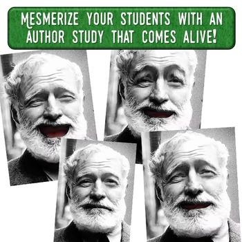 Ernest Hemingway Magic Portrait Video & PowerPoint for Author Study