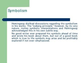 Ernest Hemingway PowerPoint LIfe and Writing (Sun old man snows)