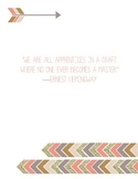 Ernest Hemingway Quote Poster