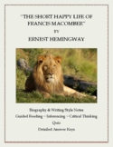 "Ernest Hemingway:  ""The Short Happy Life of Francis Macomber"" Lesson Plan"