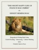 "Ernest Hemingway:  ""The Short Happy Life of Francis Macomb"