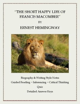 "Ernest Hemingway:  ""The Short Happy Life of Francis Macomb"