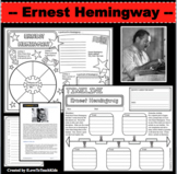 ERNEST HEMINGWAY Research Project Timeline Poster Biography Graphic Organizer