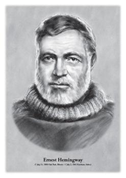 Ernest Hemingway - original illustration