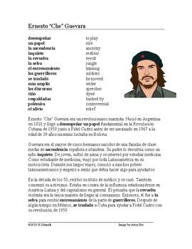 Che Guevara Biografía - Spanish Biography + Worksheet
