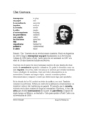 Che Guevara Biografía - Spanish Biography + Worksheet