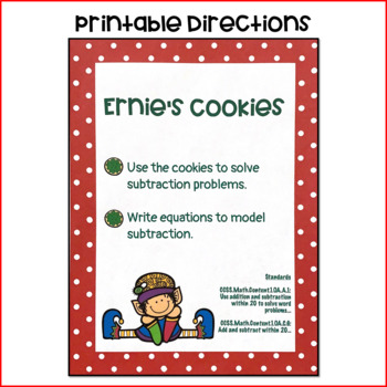 Ernie's Cookies: An Elf- Themed Subtraction Activity