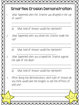 Erosion Lesson: Reading Comprehension and Activities