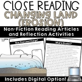 Erosion Changes to Land Close Reading Comprehension Passages and Questions