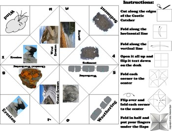 Weathering and Erosion Activity/ Foldable Game  (Geology Unit)