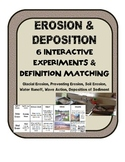 Erosion & Deposition BUNDLE: Experiment Stations & Definition Matching