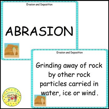 Erosion Deposition Vocabulary Cards
