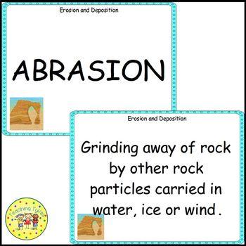 Erosion Deposition Vocabulary Cards