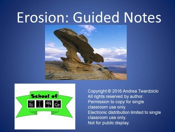 Erosion: Guided Notes