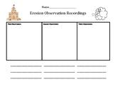 Erosion Observation Worksheet