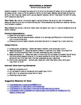 Erosion: Argumentative Essay Task CCLS