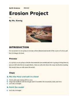 Erosion Project Essay
