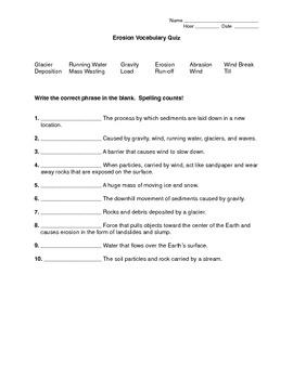 Erosion Quiz