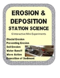 Erosion & Deposition Station Science Lab Activities w/ simple materials