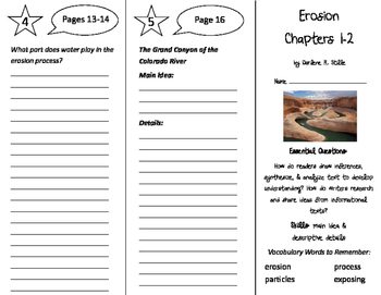 Erosion Trifold - ReadyGen 4th Grade Unit 3 Module B